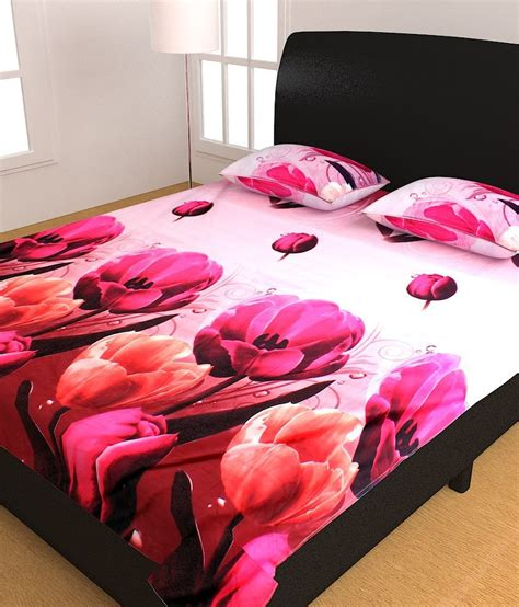 Homefab India Luxury 3D Printed Double Bed Sheet - Buy
