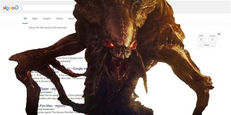 StarCraft Easter Egg: How To Zerg Rush Google Search Results