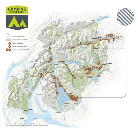 Camping map for web   Loch Lomond & The Trossachs National