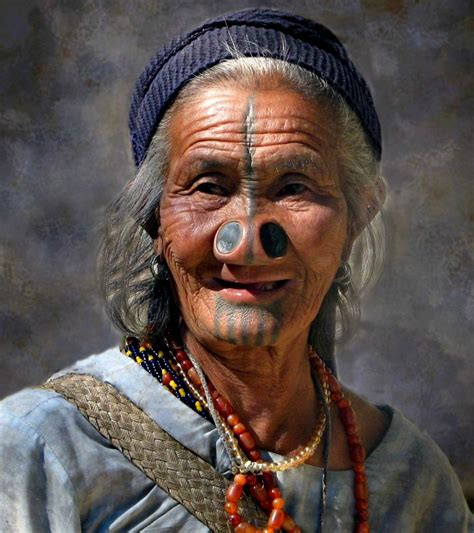 Apatani lady with huge nose-piercings | India