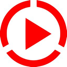Red video play 4 icon - Free red video icons