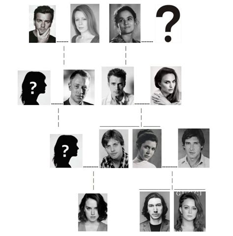 What I Believe to be The Skywalker Family Tree by